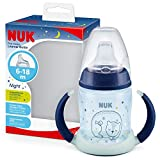 NUK First Choice+ Trinklernflasche Learner Cup Night | 6–18 Monate | 150 ml | Anti-Colic-Ventil | auslaufsichere Trinkschnabel | mit...
