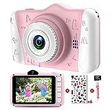 Kinderkamera - Digitalkamera Kinder mit 3,5-Zoll-Großbildschirm 1080P HD 12MP Eingebaute 32GB SD-Karte USB Wiederaufladbare Selfie Kamera...