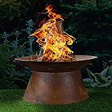 HI Feuerschale in Rostoptik Feuerstelle Gartenfeuer Feuerkorb...