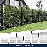 HORI Doppelstabmattenzaun I Zaun Komplettset I verschiedene Längen und Höhen – wahlweis