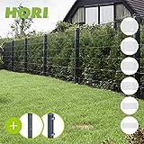 HORI® Doppelstabmattenzaun I Zaun Komplettset I verschiedene Längen...