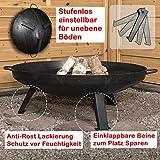 Köhko Feuerschale Ø 79 cm - Beine Anti-Rost lackiert - eintsellbare...