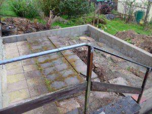 Grundmauer Terrasse Eigenbau